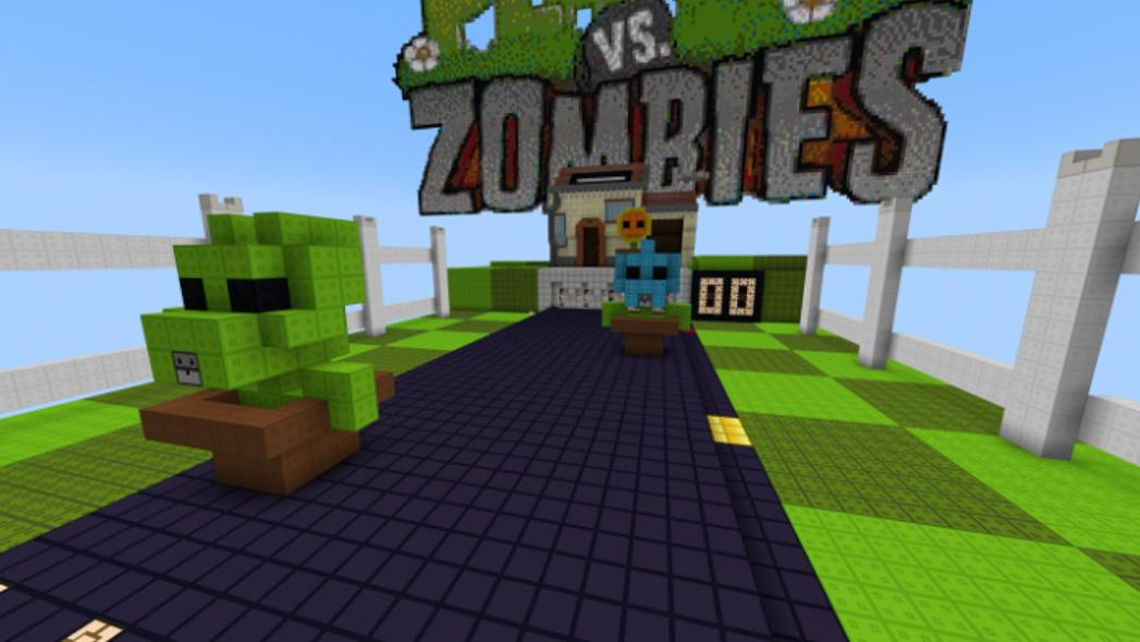 Растения против зомби карта для Майнкрафт 1.15.0