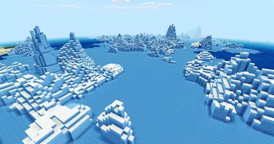 ключ генерации на зимний биом для Minecraft PE 1.14.0.51
